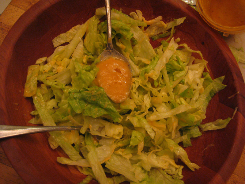 Dutch Dressing on Iceberg Lettuce